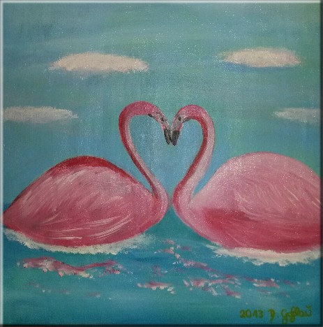Flamingos in Liebe